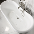 """'The Lancaster' 68"""" French Bateau Whirlpool Air Jetted Cast Iron Tub Package"""