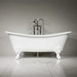 "'The Leonard' 73"" Cast Iron French Bateau Tub Package"