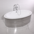 "'The Dorchester' 65"" Oval Cast Iron Double Ended Tub Package"