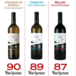 """Middle-Eastern Winery Scores 90 Points, """"Outstanding"""" Marks from Wine Spectator for Cremisan Estate"""