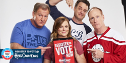 In celebration of National Voter Registration Day, Amy Poehler and 200 musicians and celebrities collaborate with non-partisan organization HeadCount to encourage voter registration.