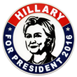 Hillary for President 2016 Pin