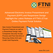 Advanced Electronic Invoice Presentment and Payment (EIPP) and Responsive Design Highlight the Latest Release of FTNI's ETran Online Payment Portal Solution