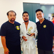Sensei Butch Ishisaka, Edgar Cabachuela, and  Sensei David Matutte - Proud of their student winning 2nd place at the recent West Covina Sensei Memorial Novice Judo Tournament