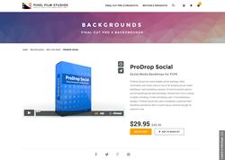 FCPX - ProDrop Social - Pixel Film Studios Plugin