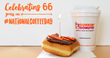 Dunkin' Donuts Celebrates National Coffee Day with 66 Cent Medium Hot Coffee Offer.