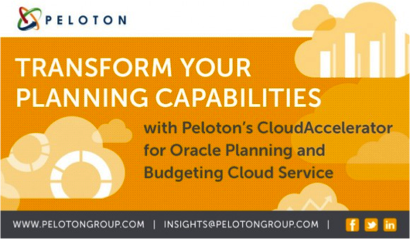 Peloton group peloton expands cloud services with oracle for Oracle enterprise planning and budgeting cloud service documentation