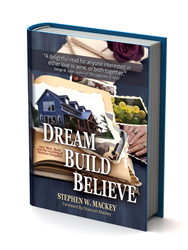 3d rendering of Dream. Build. Believe. jacket