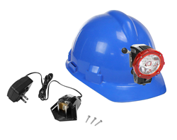 Rechargeable LED Head Lamp that produces a beam capable of reaching 450 feet