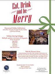 Waterfront Place Hotel Holiday Party Promotion