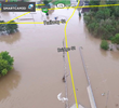 Powered by SmartCam3D augmented reality software shows streets as overlays during flooding on the Kickapoo River.