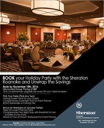 Sheraton Roanoke Holiday Promotion
