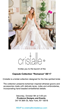 Cristalle Bridal Collection for the Free Spirited Bride Premieres During New York Fashion Week