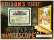 The Vitascope was adopted by Thomas A. Edison to project his Kinetoscope films, leading first to the Nickelodeon theatre and soon to the full-length motion picture.