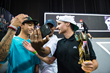 Monster Energy's Nyjah Huston Takes 2nd Place and Shane O'Neill Takes 1st Place at the SLS Nike SB Super Crown World Championship in Los Angeles