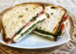 The Tuscan Farmer features Principe di San Daniele 14 months aged prosciutto, fresh mozzarella and homemade pesto between slices of Amy's sourdough rustic bread.