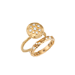 Desert Flowers Bridal Ring Set by Audrius Krulis. 18K Yellow Gold and Diamonds