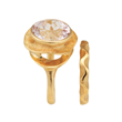 Oasis Bridal Ring Set by Audrius Krulis. 18K Yellow Gold and Kunzite