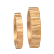 Dunes 1 Wedding Band Set by Audrius Krulis. 18K Yellow Gold