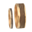 Tide Lines 2 Wedding Band Set by Audrius Krulis. 18K Yellow Gold