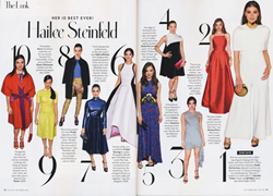 Hailee Steinfeld Top 10 Looks in InStyle Magazine, October 2016
