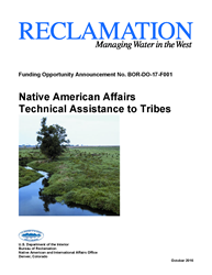 Native American Affairs Technical Assistance to Tribes FOA Cover