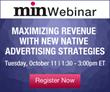 min Hosting Webinar on Native Advertising for Publishers