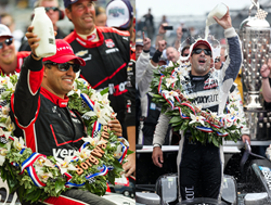 Pictured (Left to Right): Colombian IndyCar driver Juan Pablo Montoya, Brazilian IndyCar driver Tony Kanaan