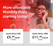 1.4¢/min: The new rate for international calls to South Africa, with Call27.com
