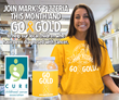 "Mark's Pizzeria ""Golden Charitable Ad Campaign"" during the month of September included TV, Newspaper, Print and Social Media across Upstate New York to help raise awareness for childhood cancer."