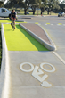 First in U.S. Dutch-Style Unsignalized Intersection Installed at Texas A&M University with Solar Luminescent Green 'Paint' Bicycle Pathways