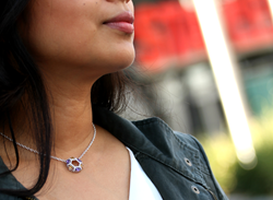 Collection features earrings and necklaces made with natural gemstones crafted in Sterling Silver