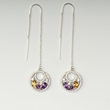 Lakers Inspired Downtown Drops Earrings by Viyari Sport