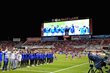 The Salt Lake Community College men's and women's soccer teams were introduced during halftime at a Real Salt Lake game in September.