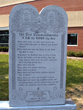 The Ten Commandment monolith located at the Grove City, OH, headquarters of The Fraternal Order of Eagles.