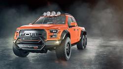 orange velociraptor 600 twin turbo ford raptor truck john hennessey performance