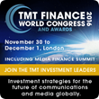 Accenture Keynote Speech at TMT Finance World Congress 2016 to Highlight Importance of Local Fixed Infrastructure Investment for European Communications Service Providers