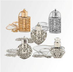 Alloy 1 ml bottles on necklaces