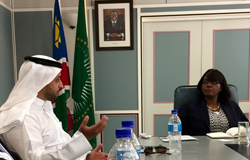 UAE Kimberley Process Chair Ahmed Bin Sulayem meets with the Prime Minister of Namibia
