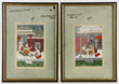 Pair of 19th century Middle-Eastern painted bookplates