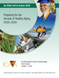 Cover of the ICAA Call to Action: Preparing for the Decade of Healthy Aging, 2020-2030