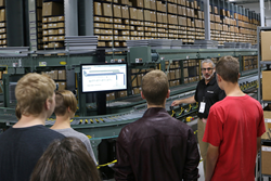 Visitors tour Balluff's manufacturing and warehouse facility on Manufacturing Day 2016