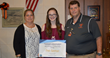 Kelsey's Law Scholarship Contest overall winner Emily Eggenberger with Bonnie Raffaele and Alma High School Principal Torok