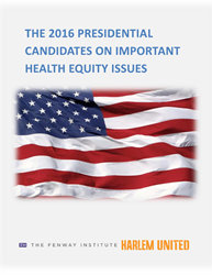 Cover of voter issues brief The 2016 Presidential Candidates On Important Health Equity Issues
