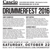 Drummer Information for DrummerFest 2016 at Cascio Interstate Music
