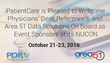 iPatientCare is Pleased to Welcome Physicians' Desk Reference® and Area 51 Data Solutions On Board as Event Sponsors at its NUCON, October 21-23, 2016