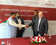 From left to right: The owners of Ahyan Hotel & Resorts Limited: Md Ferdous Bhuyan, Md Zahir Uddin (Razib), Tajuddin Ahmed Sajib, Mövenpick Hotels & Resorts Senior Vice President Asia, Mr. Andrew Lang