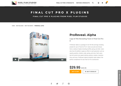 FCPX Plugin - ProReveal Alpha - Pixel Film Studios
