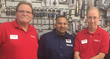 Bob Casteleneto and Jimmy Hughes join Arch Auto Parts store manager Shane Santia at the grand opening of Arch Auto Parts, 145-91 Guy R. Brewer Blvd, Jamaica, NY, formerly Sunrock Auto Parts.