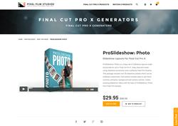 FCPX Plugin - ProSlideshow Photo - Pixel Film Studios